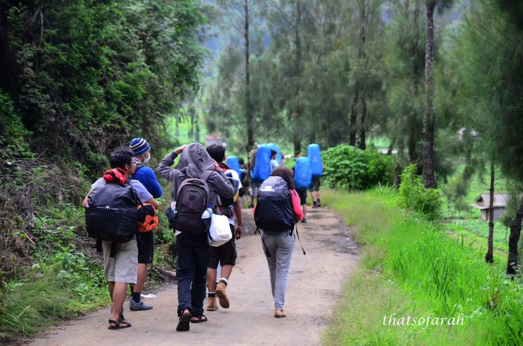 Starting point Semeru - Ranu Pani village
