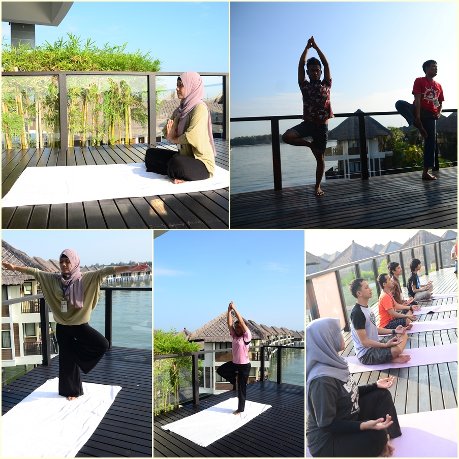 Yoga at Golden Palm Tree