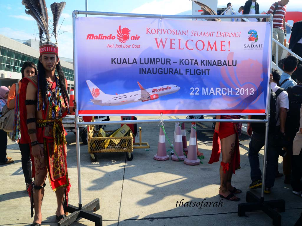 Malindo Air KL-KK Inaugural Flight