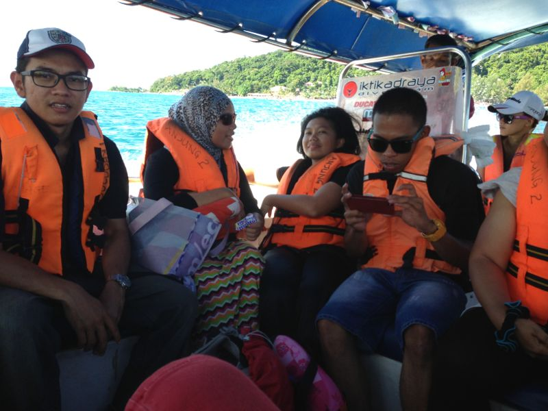 On the boat from Pulau Perhentian