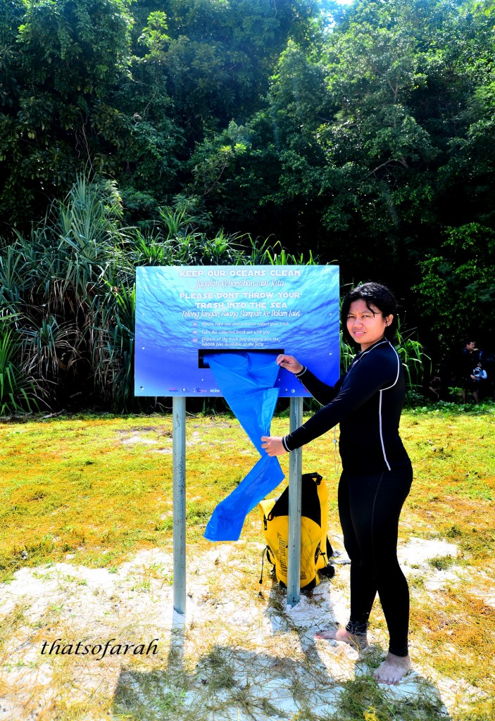 Plastic Dispenser at Tulai Island
