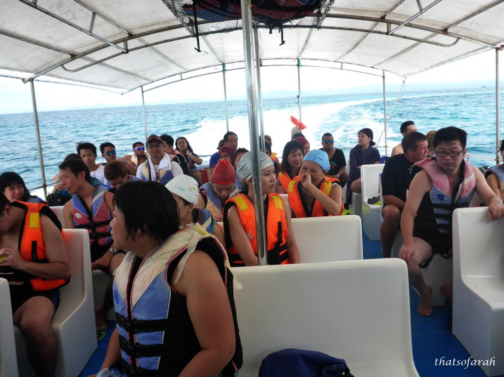 Boat to Mantanani Island