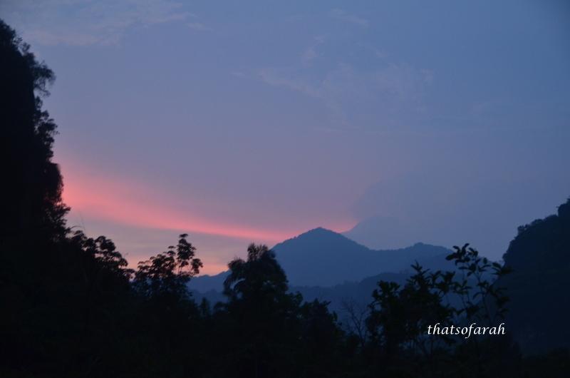 Sunset at Lembah Harau
