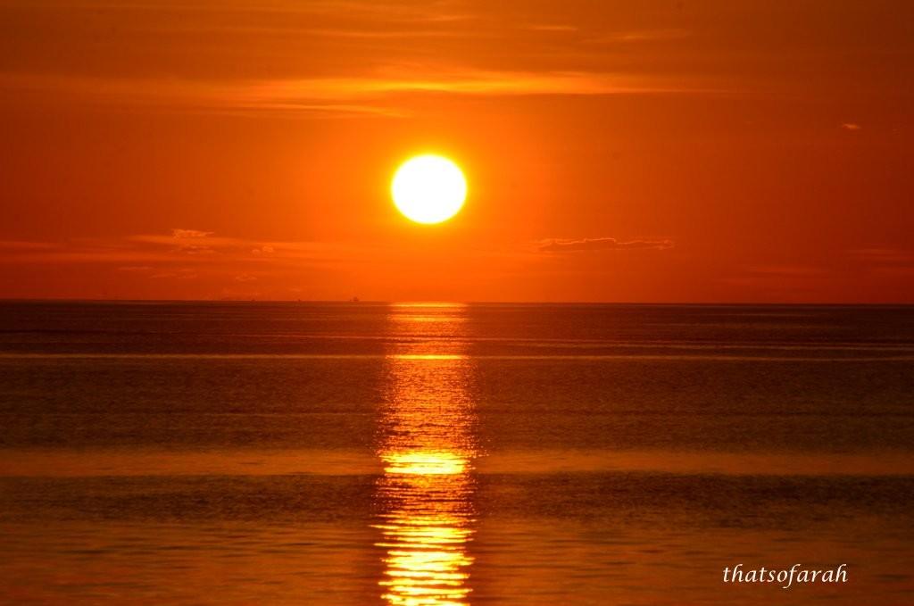 Sunset at Mabul Island