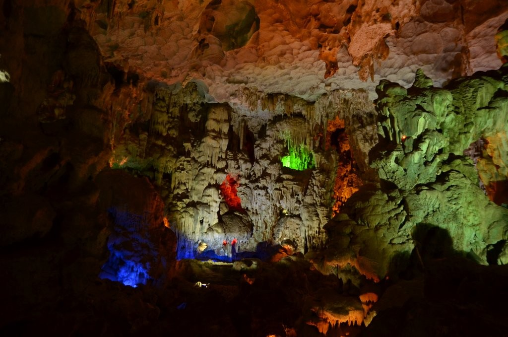 Artificial light in cave