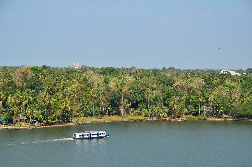 Raviz Ashtamudi view from rooftop